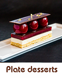 Plate desserts